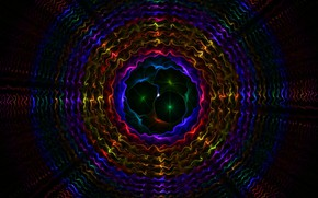 Picture graphics, vibration, multi colored background, patterns, circular lines, resonance