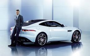 Picture male, Jaguar, auto, David Beckham, costume