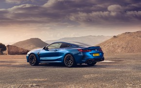 Picture BMW, rear view, Coupe, Competition, UK-Spec, 2019, BMW M8, F92