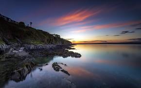 Picture sunset, coast, Ireland