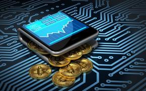 Picture smartphone, smartphone, bitcoin, bitcoin, btc