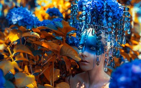 Picture girl, decoration, style, makeup, fantasy, image, makeup, photoart, Kindra Nikole