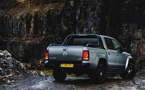 Picture Volkswagen, back, pickup, Amarok, Black Edition, 2019