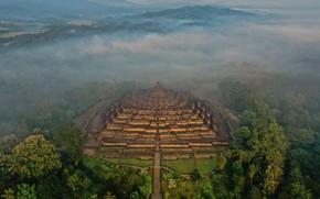 Picture Indonesia, Java, Borobudur, stupa, Buddhist temple