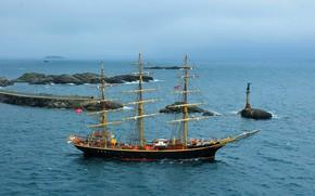 Picture sea, ship, sailing