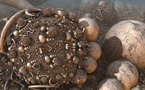 Picture balls, form, 3D graphics
