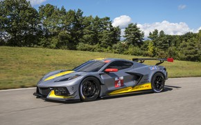 Picture machine, trees, Chevrolet, sports car, C8.R
