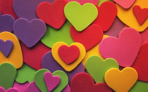 Picture love, background, heart, colored, colorful, hearts, love, background, romantic, hearts, valentine's day, multicolored