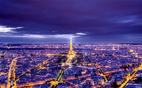Picture night, the city, photo, France, Paris
