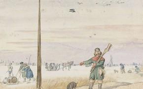 Picture figure, Hendrick Avercamp, Hendrick Avercamp, 1595, Hunter on ducks
