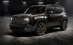 Picture machine, background, lights, tuning, SUV, wheels, drives, tuning, color, Jeep, Renegade, dark color, Jeep Renegade