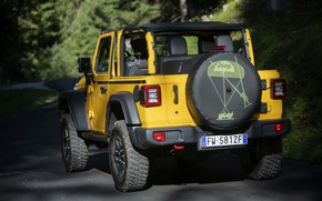 Picture yellow, SUV, ass, 4x4, Jeep, Mopar, 2019, Wrangler Rubicon 1941