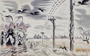 Picture 1949, Charles Ephraim Burchfield, Telegraph Music