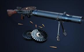 Picture Machine gun, Lewis gun, Isaac Newton Lewis