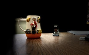 Picture cup, glasses, cups, mug