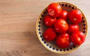 Picture table, plate, red, bowl, tomatoes, tomatoes