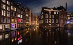 Picture water, reflection, building, Amsterdam, water, Amsterdam, buildings, reflections, Antoni Figueras