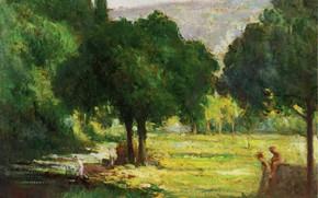 Picture landscape, picture, Maximilien Luce, Maximilien Luce, Bathers on the Banks of Cury