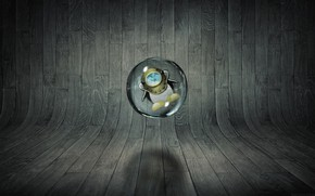 Picture linux, ubuntu, wood, drop, abstrac