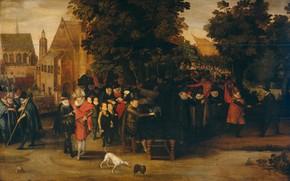 Picture oil, picture, Адриан ван де Венне, Adriaen van de Venne, Сатира на Голландскую Политику, 1619