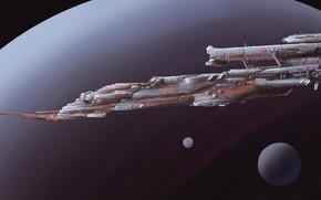 Picture Planet, Space, Ship, Fantasy, Art, Spaceship, Satellite, Fiction, Spaceship, Vehicles, Science Fiction, Spacecraft, Dmitrii Ustinov, …