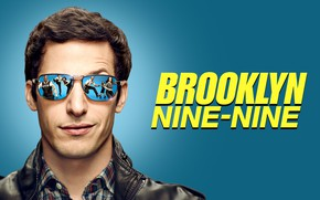 Picture smile, glasses, the series, Andy Samberg, Brooklyn Nine Nine, Andy Samberg, Brooklyn 9-9