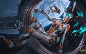 Picture girl, space, Smite, Chang'e