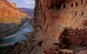Picture river, AZ, USA, The Grand Canyon, Nankoweap Granaries