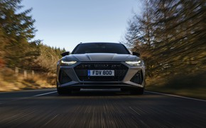 Picture movement, Audi, lights, before, grille, universal, RS 6, 2020, 2019, V8 Twin-Turbo, RS6 Avant, UK-version