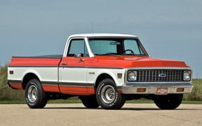 Picture Chevrolet, Old, Pickup, C10