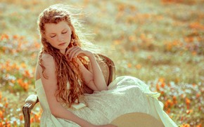 Picture nature, spring, girl