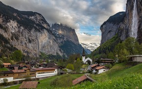 Wallpaper mountains, Switzerland, Switzerland, Lauterbrunnen