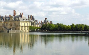 Picture pond, France, The Palace Of Fontainebleau