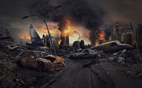 Picture machine, Apocalypse, destruction, ruins