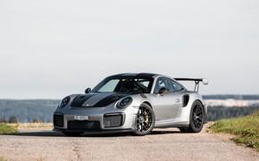Picture Porsche, GT2, Black, Wheels, 991