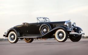 Picture Roadster, black, retro, Convertible, Chrysler Custom Imperial