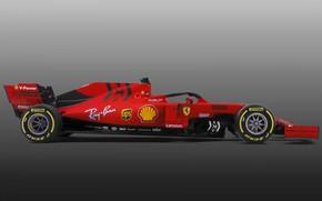 Picture Ferrari, bollid, Motorsport, 2019