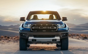 Picture Ford, front view, Raptor, pickup, Ranger, 2019