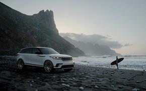 Picture coast, Range Rover, crossover, CGI, Velar