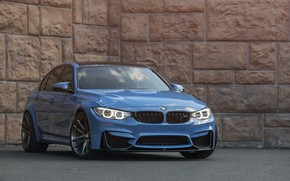 Picture BMW, Blue, Wall, Black, F80, Sight