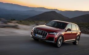 Picture movement, Audi, crossover, Audi Q7, 2020