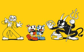 Picture minimalism, different, toon, CASCO-voice brothers, Cuphead