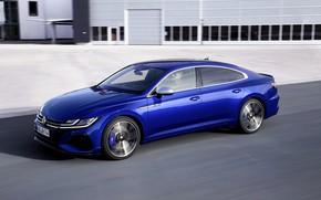 Picture blue, Volkswagen, side, liftback, 2020, Arteon, Arteon R