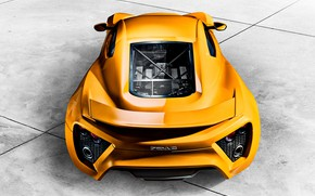 Picture supercar, ST1, Zenvo, the view from the top, 2015