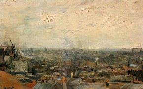 Picture Vincent van Gogh, an overview of the city, from Montmartre, View of Paris