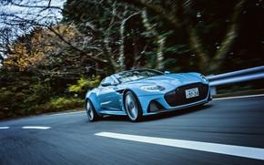 Picture Convertible, Blue, Car, Aston Martin DBS Superleggera Volante