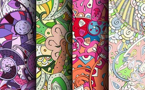 Picture abstraction, background, pattern, colorful, ornament, patterns, seamless, Paisley