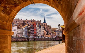 Picture river, France, home, Strasbourg