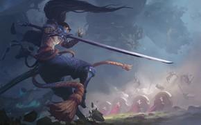 Picture sword, male, League of Legends, Yasuo, by Song Nan Li