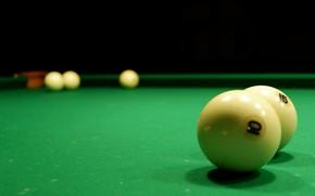 Picture green, table, balls, Billiards, cloth, Luza